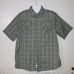 Mens plaid akademiks shirt
